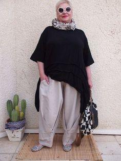 """Fashion for ladies complete amateur """"boho"""" -style Mature Fashion, Big Fashion, Fashion Over 50, Look Fashion, Plus Size Fashion, Womens Fashion, Xl Mode, Mein Style, Moda Boho"""