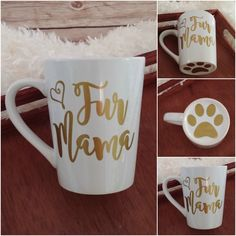 Fur Mama Mug, Dog Mug, Coffee Cup, Dog Lover Gift, Dog Mom Gift, Dog Dad Gift, Personalized Mug, Funny Coffee Mug by MySweetCannella on Etsy https://www.etsy.com/listing/457331776/fur-mama-mug-dog-mug-coffee-cup-dog