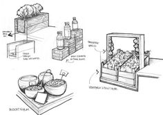 Olive Oil and Oregano - Merchandising concept sketch