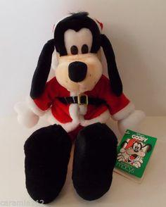 Disney for Macy's Limited Edition Goofy Santa Plush Stuffed Animal New 1992 Vtg