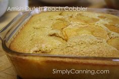 Old Fashioned Peach Cobbler Recipe made with home canned peaches, An Amish Dutch find!