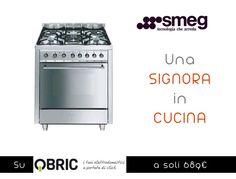 C7GMXI8-2 - Cucina 70x60 Inox - Smeg - 5 fuochi  - forno Elettrico Multifunzione  - Est. INOX  - Larghezza 70 cm x Prof. 60 cm http://www.qbric.it/cottura/cucine/c7gmxi8-2.html #cucina #ffod #kitchen #professional