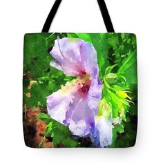 Bluebird Rose of Sharon Tote Bag for Sale by Anna Porter Floral Tote Bags, Thing 1, Rose Of Sharon, Poplin Fabric, Bag Sale, Blue Bird, Fine Art America, Totes, Floral Design