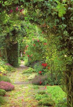 malerischer Gartenweg