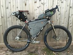 Billy Rice's sick new ride.  Cjell Monē frame, Scot Banks wheels (Absolute Bikes), Nuclear Sunrise bags.