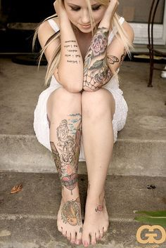 think I could get a job as a teacher with this many tattoos?