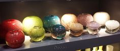Ball with Bubbles Collection. A beautiful collection that really shows glass is art!