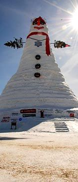 Olympia..worlds largest snow woman, named after Senator Olympia Snow  Bethel,Maine