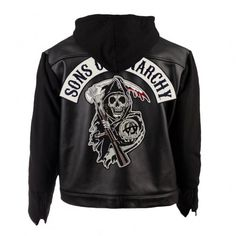 Sons of Anarchy Leather & Fleece Highway Jacket $270 @FX Shop
