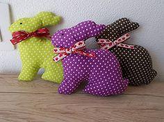 fanta-fany / Zajačiky dekorácia