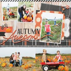 Autumn Awesome....5 photo fall layout