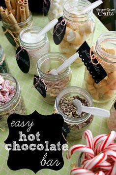 easy hot chocolate bar at GingerSnapCrafts.com