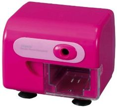 Amazon.com: Raymay Fujii Electric Pencil Sharpener Container Pink: Office Products