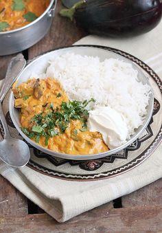 Délices d'Orient : Curry d'Aubergine