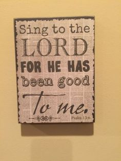 Sing To The Lord Box Sign Black And White Primitive Country