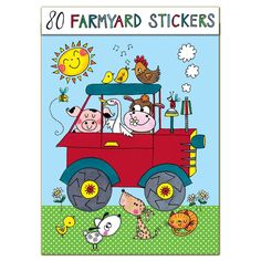 These Rachel Ellen Farm Stickers are super cute and Boys age 5 will love sticking them everywhere. A great gift for creative boys.