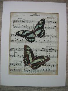 Mozart+Sheet+Music+Art+Print+Watercolor+by+BlackbirdBungalow,+$15.00