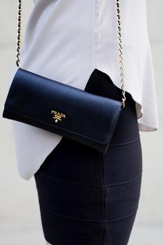 Designer Bag Review: Prada Wallet on a Chain http://www.deal-shop.com/product/levaca-womens-long-sleeve-button-cowl-neck-casual-slim-tunic-tops-with-pockets/