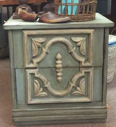 Vintage custom painted nightstand... $119... Spotted in Marietta, Ga at A Classy Flea. 2/11/15