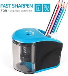 Electric Pencil Sharpener, INVOKER Auto Pencil Sharpeners Heavy Duty Helical Blade for Pencils to Fast Sharpen, School Supplies for Office Classroom Home (USB Adapter Included) Electric Pencil Sharpener, School Supplies, Colored Pencils, School Stuff, Blade, Usb, Classroom, Hipster Stuff, Colouring Pencils
