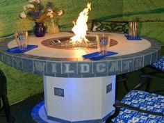 9 concrete tabletop firepit