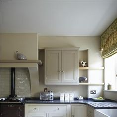 Kitchen in Savage Ground and London Stone by Farrow and Ball. Love this look.