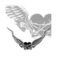 Black Romance Heart Pewter Necklace