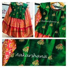 Benarasi lehenga and Kurta for kids - kids lehenga Frocks For Girls, Kids Frocks, Dresses Kids Girl, Kids Outfits, Kids Dress Wear, Kids Gown, Baby Dress, Kids Indian Wear, Kids Ethnic Wear