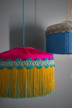 BeauVamp fringed lampshade lighting Statement lighting for unique interiors. Traditional sewing methods used. Vintage inspired Made in the UK How To Make Chandelier, Furniture Outlet, Discount Furniture, Bohemian Decor, Bohemian House, Interior Decorating, Interior Design, Shipping Company, I Love Lamp