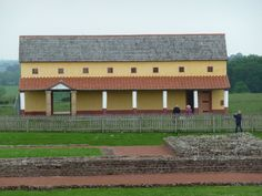 Wroxeter Roman City: reconstructed Roman town house.