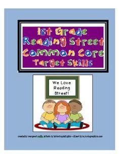 Unit 1 Scott Foresman - Reading Street - Common Core -First Grade