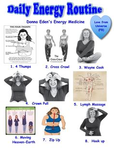 I have been doing Donna's DER for 3 weeks now.  They are making a significant health difference.  Please share this poster I have made.