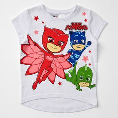 Your little PJ Masks fan will instantly fall in love with this short sleeve print tee. Featuring a character design on front with high-low hem for style. Cotton for comfort and breathability. Pj Mask, Printed Tees, Masks, Target, Character Design, Short Sleeves, Australia, Kids, Cotton