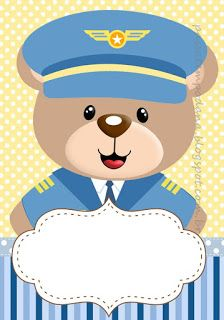 Aviator Bear Party Printables