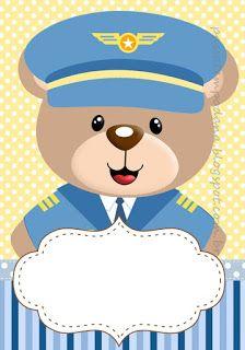 Aviator Bear Party Printables