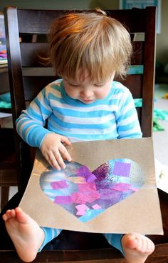 Easy Baby/Toddler Valentine's Day Art from Fun at Home with Kids