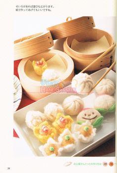 Felt Wool Japanese Craft Book DIY Felt Wool by 1127handcrafter. Mini felted food. It's high fiber!