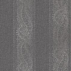 2618-21326 Siyah Paisley Şerit - Oyun Oyna - Kenneth James Alhambra Wallpaper