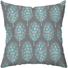 Checkerboard Guinea Feathers Poly Cotton Throw Pillow | Wayfair