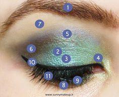 Make up occhi azzurro viola con la palette Duochrome di Neve Cosmetics - Sunny Makeup