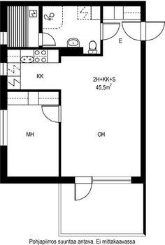 Vuokra-asunnot - Jyväskylä, Kortepohja, 2h+kk+s, 45,5m² - Taitoniekantie 6, 40740, Jyväskylä | sato.fi