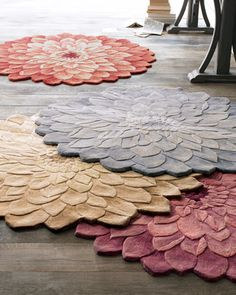 """""""Zinnia"""" Floral rug at Horchow. Would love for Madeleine's room when she's a little older."""