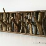 Tree branch coat hanger
