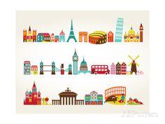 Travel And Tourism Locations Posters van Marish bij AllPosters.nl