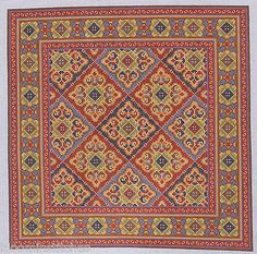 CanvasWorks PO117A 18m Esfahan Hand Painted Needlepoint Canvas