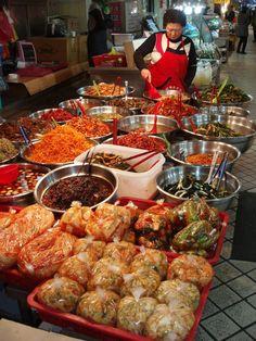 Banchan (side dishes) Vendor in Korea