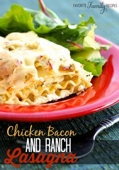 This chicken, bacon, ranch lasagna is amazing! Packed with flavor and easy to make. I always have to make two pans so we can have leftovers!