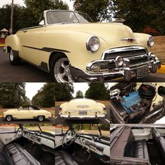 1951 Chevrolet Deluxe Convertible, model to 2134. This outstanding car is truly one of the very best we've ever seen. Fresh out of a private collection of only the best with only 53,865 actual miles. Show quality throughout. Finished in beautiful Moonlight Cream paint with excellent glass, chrome, and stainless. Everything works throughout the car! The Black interior including the Black power soft top is in excellent condition.  Price $50,400