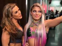 wwe & don't hold back when it comes to what they think about Wwe Backstage, Alexis Bliss, Lexi Kaufman, Mickie James, Wwe Female Wrestlers, Wwe Girls, Women's Wrestling, Wrestling Divas, Raw Women's Champion