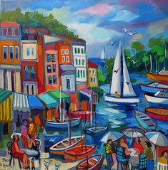 Portofino Afternoon South African Artists, Painting, Painting Art, Paintings, Painted Canvas, Drawings